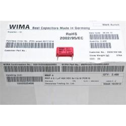 德國WIMA電容器/MKP4/0.1uF/400V/15mm