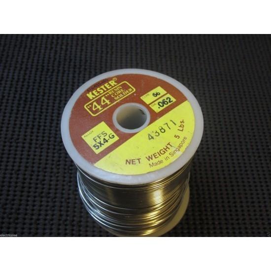 """1公尺-早期KESTER FFS 5X4-G 0.062""""(1.6Ø) 銲錫(焊錫)"""