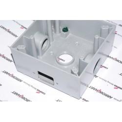 HUBBELL 5341-0-P 雙聯全鋁電源盒 [有開電源孔]
