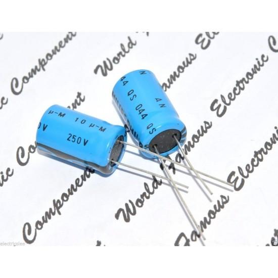 BCcomponents電解電容/044/10uF/250V/12.5*25mm 腳距:5mm