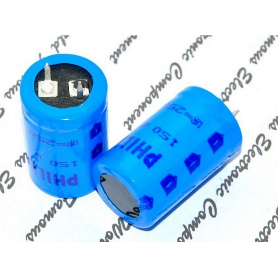 BCcomponents電解電容/059/150uF/250V/22*35mm 腳距:10mm