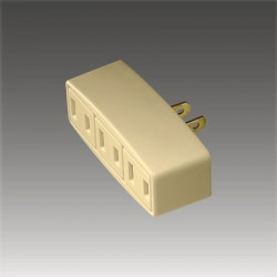 美國COOPER 1747V 象牙白 一轉三電源分接座 15A 125V NEMA 1-15R