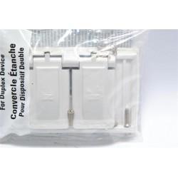 美國 COOPER S1952W 插座保護蓋板 防水防塵 單聯 白色 塑膠製 (DUPLEX型)
