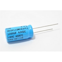 美國CDE立式電解電容器1200uF/63V/D16L25d7.5(mm)