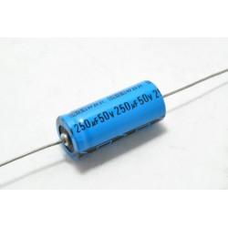 美國CDE 臥式電解電容器 WBR 250uF 50V D16 L39 mm