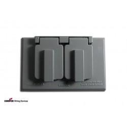 美國 COOPER S989 插座保護蓋板 防水防塵 單聯 鋁製 (DUPLEX型)
