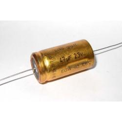 德國ROE臥式無極性電解電容(BP/NP)/47uF/23VAC(63VDC)