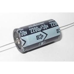 日本NICHICON臥式電解電容/2200uF/50V/D22L40(mm)