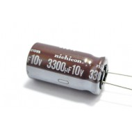 日本NICHICON立式電解電容/3300uF/10V/D12L25d5(mm)