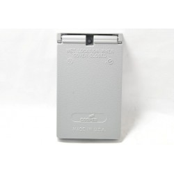 美國 COOPER S966 插座保護蓋板 防水防塵 單聯 鋁製 (DECORATOR型)