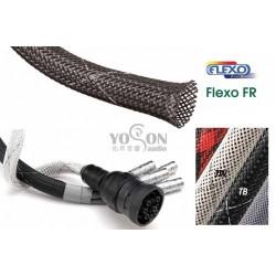 1公尺-美國Techflex FRN0.75TB 套管(隔離網/編織網) 黑底白邊
