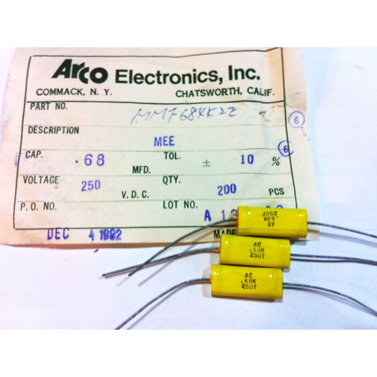 ARCO臥式金屬膜電容 MEE/0.68uF/250V/10%