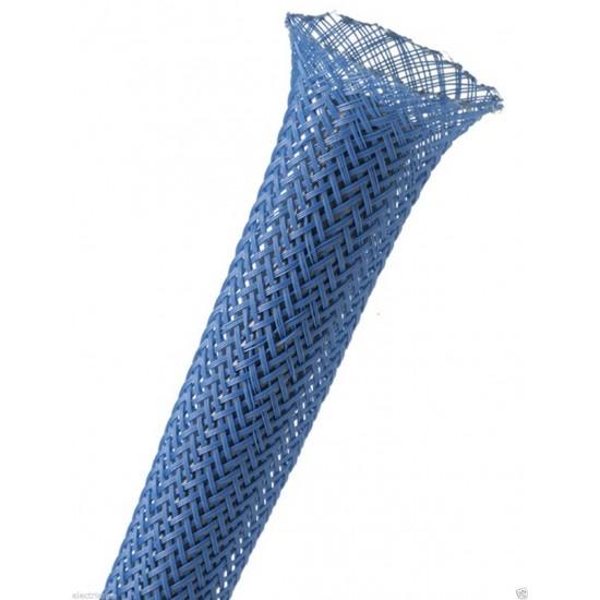 1公尺-美國Techflex PTN0.13BL (3.3mm)  套管(隔離網/編織網)  藍色