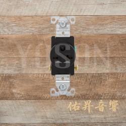 美國 COOPER 1876BK 20A 250V 插座 壁插 黑色單孔電源插座 Single型 BSMI認證