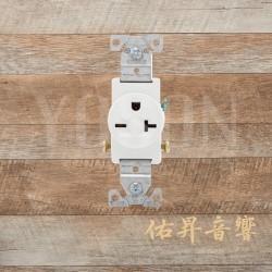 美國 COOPER 1876W 20A 250V 插座 壁插 白色單孔電源插座 Single型 BSMI認證