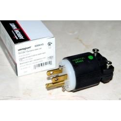 美國 COOPER 6266HG 15A 125V NEMA 5-15 黑色 頂級醫療級插頭 絕版品 1顆1標