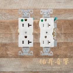美國 EATON COOPER 8300W 20A 125V 白色 醫療級插座 節能省電 最安全 DUPLEX型