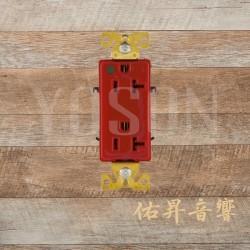 [特價中] 美國 EATON COOPER 8362RD 20A 125V  紅色 純銅 醫療級插座 節能省電 最安全 DECORATOR型