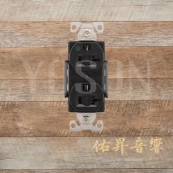 美國 EATON COOPER  AH8300BK 20A 125V 黑色 醫療級插座  節能省電 最安全 DUPLEX型【台灣唯一獨家代理】