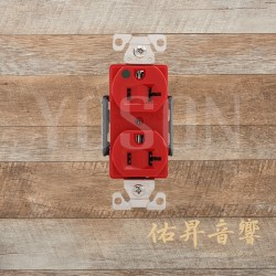 美國 EATON COOPER  AH8300RD 20A 125V 紅色 醫療級插座 節能省電 最安全 DUPLEX型【台灣唯一獨家代理】