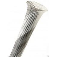1公尺-美國Techflex PTN0.25GW (6.4mm) 套管(隔離網/編織網)  灰混白