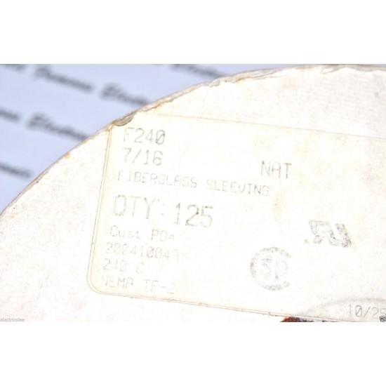 1公尺-Manhattan F240-7/16 (11.4mm) 240°C 玻璃纖維 耐高溫套管