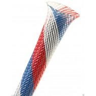 1公尺-美國Techflex PTN0.13PT (3.3mm) 套管(隔離網/編織網) 紅白藍