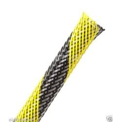 1公尺-美國Techflex PTN0.13SS (3.3mm) 套管(隔離網/編織網) 黑混黃