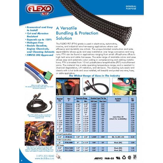 1公尺-美國Techflex PTN0.13BK (3.3mm)  套管(隔離網/編織網) 黑色