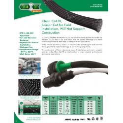 1公尺-美國Techflex CCF0.25TW (6.4mm) 套管(隔離網/編織網) 白底黑線