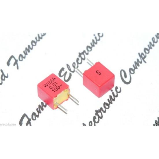 德國 WIMA FKP2 0.01uf (0,01µF 10nF) 100V  5% 腳距:5mm Polypropylene Capacitor 金屬膜電容器