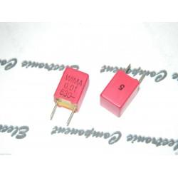 德國 WIMA FKP2 0.01uf (0,01µF 10nF) 630V 5% 腳距:5mm Polypropylene Capacitor 金屬膜電容器