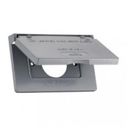 美國 COOPER S992 插座保護蓋板 防水防塵 單聯單孔 鋁製