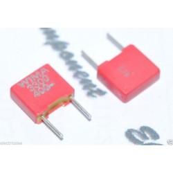 德國 WIMA FKS2 3300P (3300PF 3.3nF) 400V 5% 腳距:5mm 金屬膜電容器