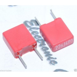 德國WIMA MKS2 0.022uF 400V 5% 腳距:5mm 金屬膜電容器