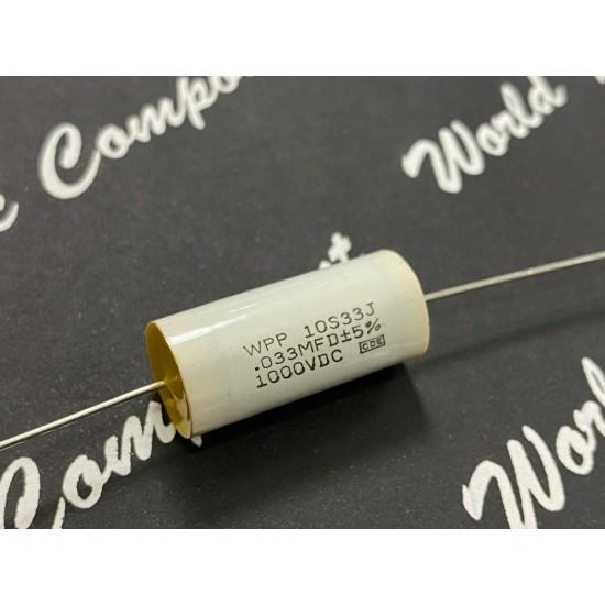 1顆 x 美國CDE WPP 0.033uF 1000V WPP10S33J 金屬膜電容器