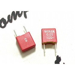 德國 WIMA FKS2 0.01uF 100V 5% 5mm FKS2D021001B00JSSD 金屬膜電容 x 1