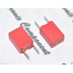 德國WIMA MKP2 0.1uF (0.1µF 100nF) 63V 5% 腳距:5mm 金屬膜電容器