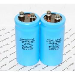 美國CDE 1700uF (1700µF) 400V DCMX172U400BC2B 鎖螺絲型 濾波電容