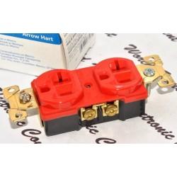 EATON COOPER AH5352RD 125V 20A NEMA 5-20R Duplex型 紅色 工業級插座 x 1