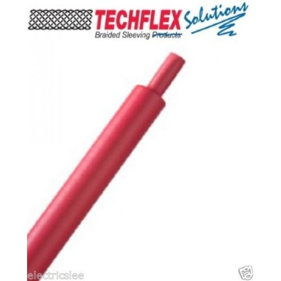 """0.5公尺-美國 Techflex H3N0.5RD (1/2"""") (12.7mm) 熱縮比 3:1 紅色軍規熱縮套管"""