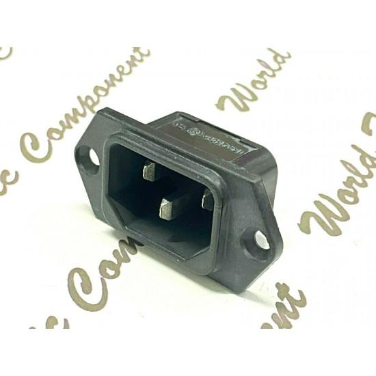 1個 -  瑞士製 SCHURTER 6100.3100 IEC C14 電源公座 機箱電源座 電源座