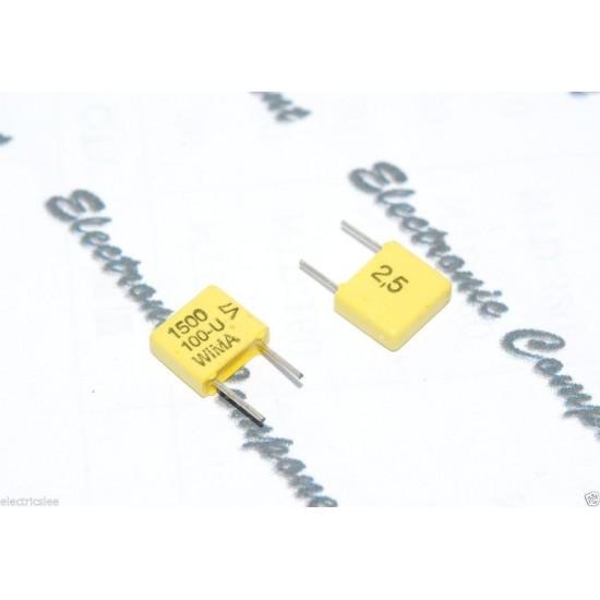 德國WIMA FKC2 1500P (1500PF 1.5nF) 100V 2.5% 腳距:5mm 金屬膜電容器