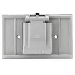美國 COOPER S1951 插座保護蓋板 防水蓋板 單聯單孔 塑膠製