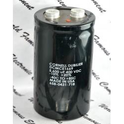 Cornell Dubilier DCMCE1669 5600uF 400V 鎖螺絲電解電容