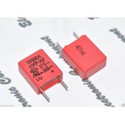 德國WIMA MKP-X2 0.047uF AC 275V / 305V 10% 腳距:7.5mm X電容
