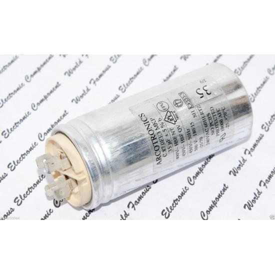 ARCOTRONICS 35uF 450V 5% C.87.0EE3 MKP 啟動電容器 金屬膜電容器 1顆1標