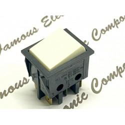 Dreefs  T105 2Wi Xii 16A/250VAC ON-ON 白色 蹺蹺板 開關 Rocker Switch