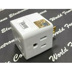 美國 COOPER / EATON 全新改款  1482W 15A 125V,NEMA5-15  一轉三分接插座