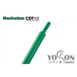 0.5公尺-美國Manhattan/CDT 3/4 (19.05mm) 熱縮比例 2:1 綠色 軍規熱縮套管